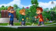 The Chipmunks at the golf course