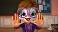Jeanette actua como un mimo