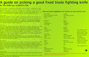 6B - Fixed Fighting Knife