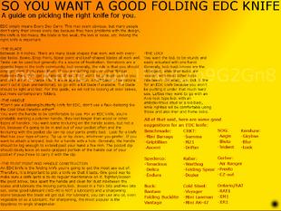 6B - Folding EDC Knife