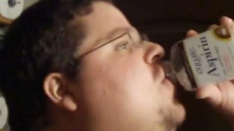 Fat Guy Gets His Aspirin
