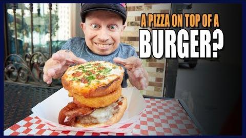 A Pizza On Top Of A Burger?