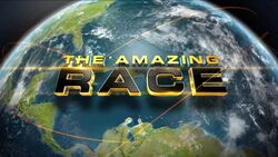 The Amazing Race title screen.