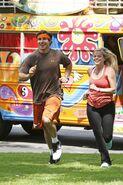 Trey Lexi Run to Starting Line