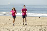 Denise JamesEarl run to Starting Line