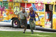 Rob Sheila Run to Starting Line