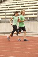 S24 Jessica John Run to Starting Line