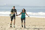 Justin Diana Run to Starting Line