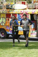 Amy Daniel Run to Starting Line