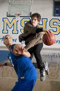 Peter and Flash play basketball
