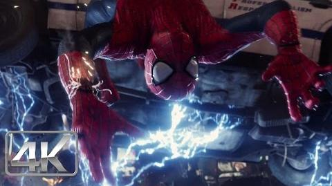 Spider-Man Vs Electro (Primera Pelea) ESPAÑOL (4K-HD) The Amazing Spiderman 2