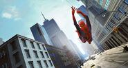 The-Amazing-Spider-Man-Swinging-Through-Manhattan
