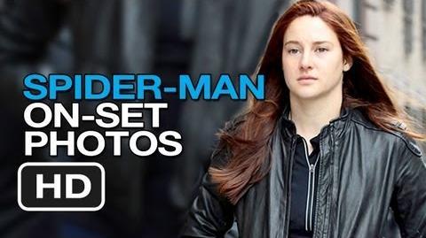 Regular Guy/The Amazing Spider-Man 2 on set photos