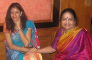 Madhu Nataraj with Dr.Maya Rao