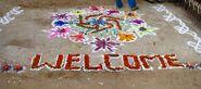 Chalk & flower welcome - MCKay Savage( CCA)