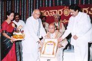 Gourang Kodical from Facebook being honoured by Samskara Bharati - Bangalore Chapter