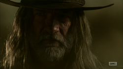 The Saint of Killers arrives in Annville's ruins.png