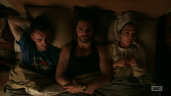 Jesse, Cassidy, and Tulip awkwardly share a bed.png