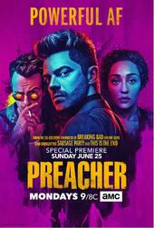 Preacher season 2 premiere poster - Powerful AF.png