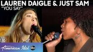 "Lauren Daigle RETURNS For An Inspiring Performance Of ""You Say"" With Just Sam - American Idol 2020"