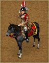 Britain 18th mounted flag bearer