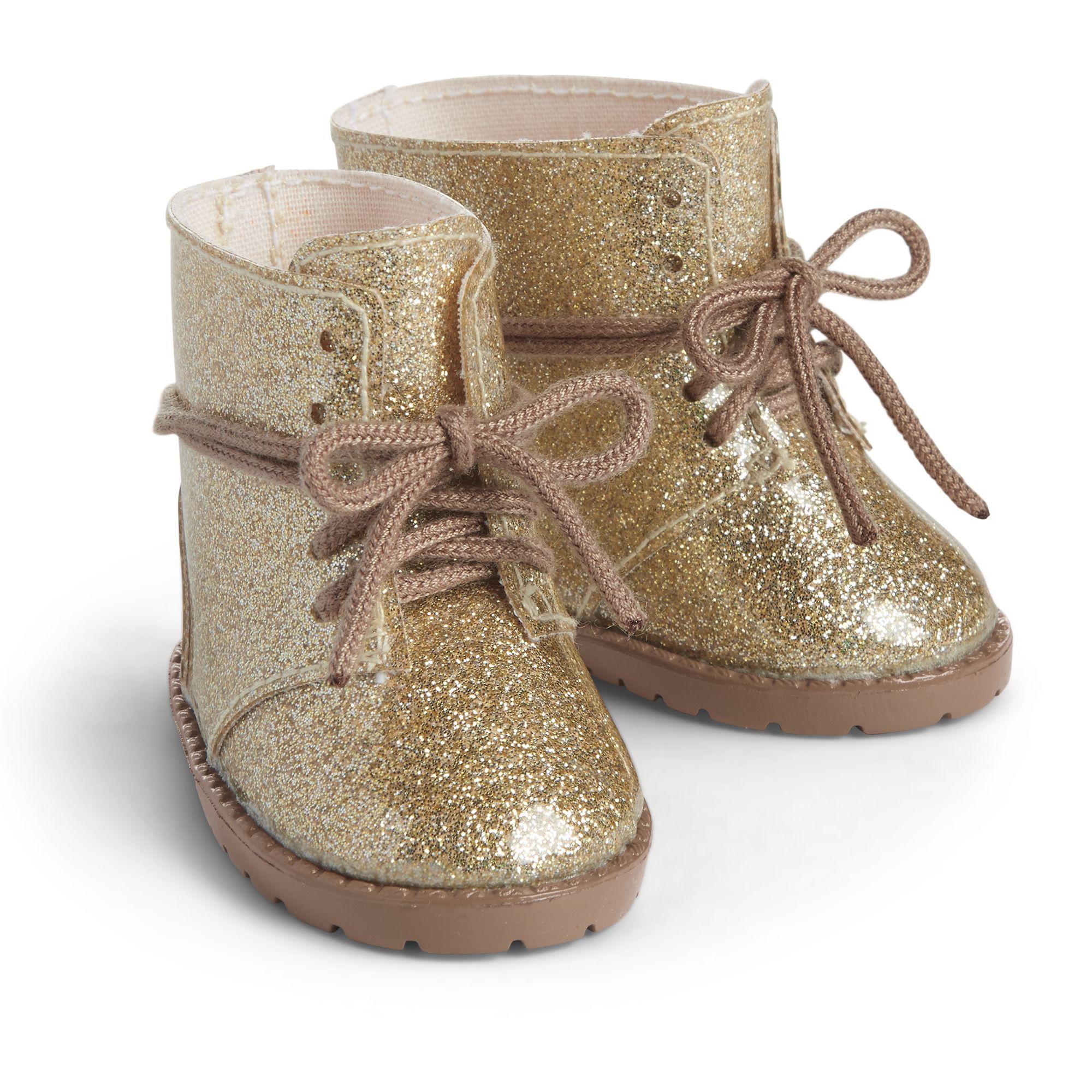 Gold Glitter Boots