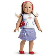American Girl Club Hooded Tee Outfit
