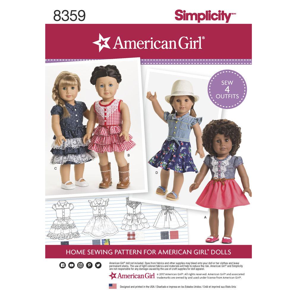 American Girl Pattern 8359