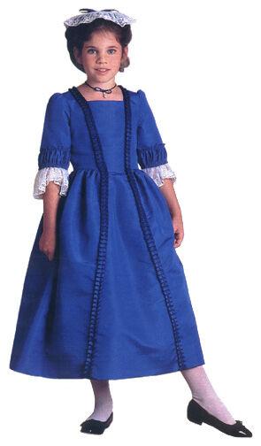 American Girl Felicity Christmas Dress//Gown~Blue Ribbon//Stomacher~Pinner Cap