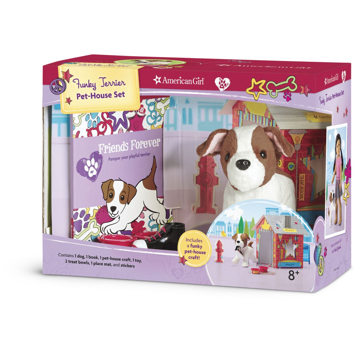Funky Terrier Pet-House Set