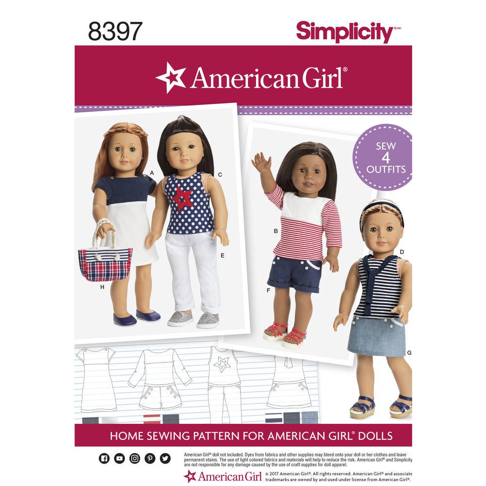 American Girl Pattern 8397