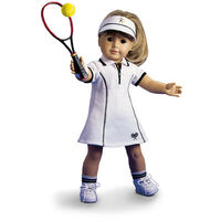 NEW American Girl TENNIS OUTFIT SET Doll Sports Lavender White Retired NIB