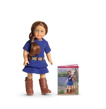 American Girl Doll SAIGE BLUE MEET DRESS Embroidered Belt