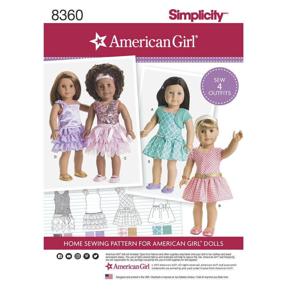 American Girl Pattern 8360