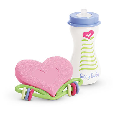 Baby's Bottle and Rattle