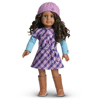 American Girl 2010 Pretty /& Plaid Dress Knee High Boots For Doll Only