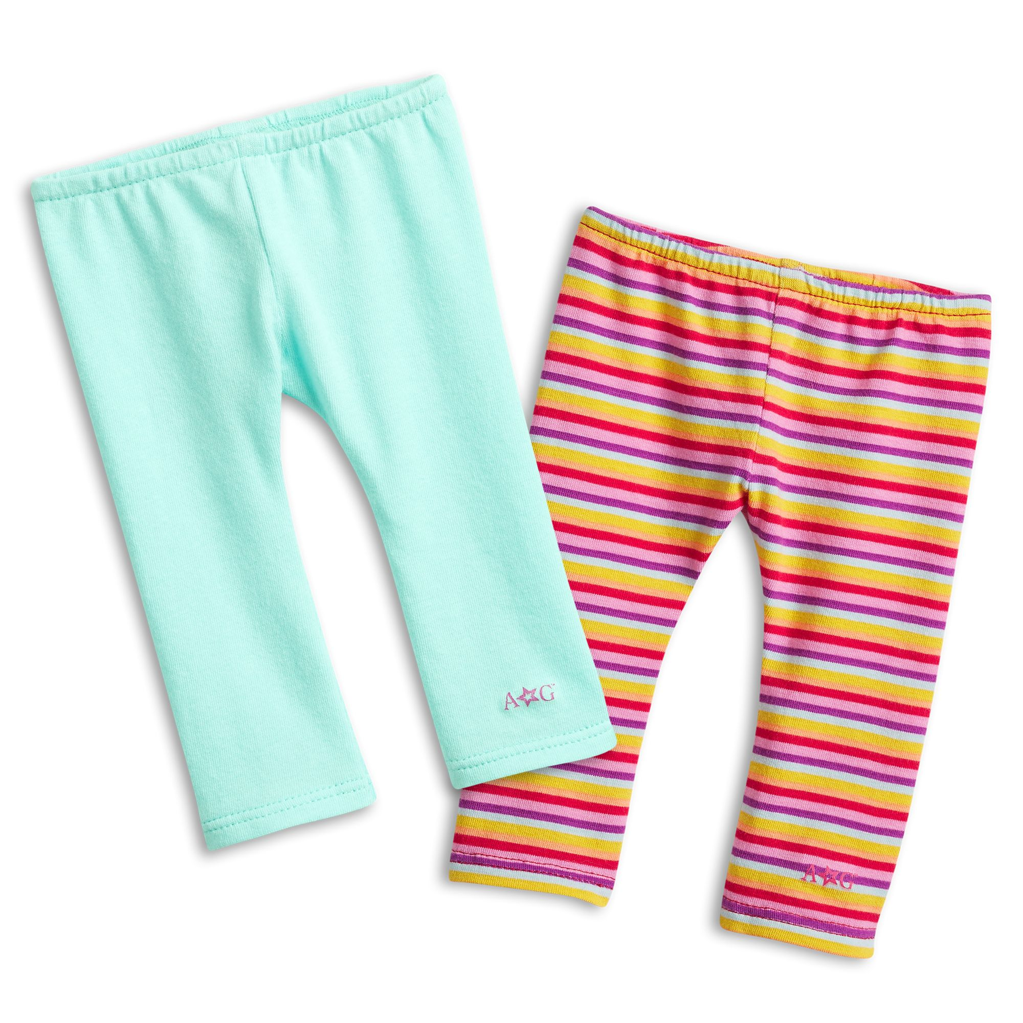 Solid and Stripe Leggings Set