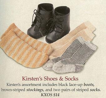 American Girl Pleasant Company New Kirsten's Summer Socks