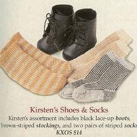 New American Girl SOCKS Stockings For Kirsten Meet Outfit 5 PAIR Wholesale
