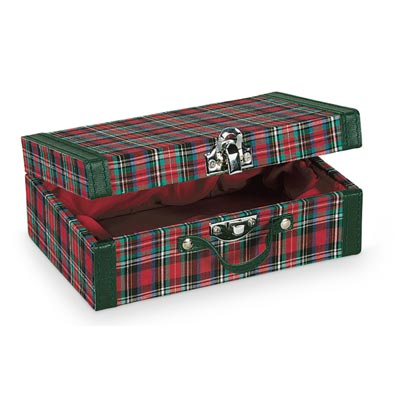 Plaid Suitcase