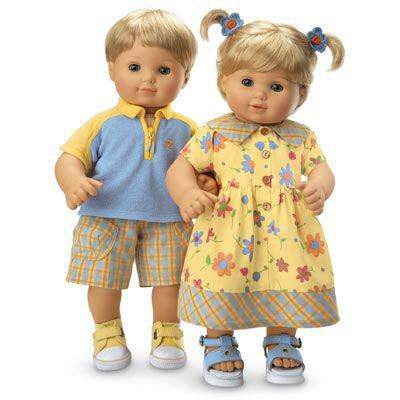 Bitty Twins Sunny Day Outfits