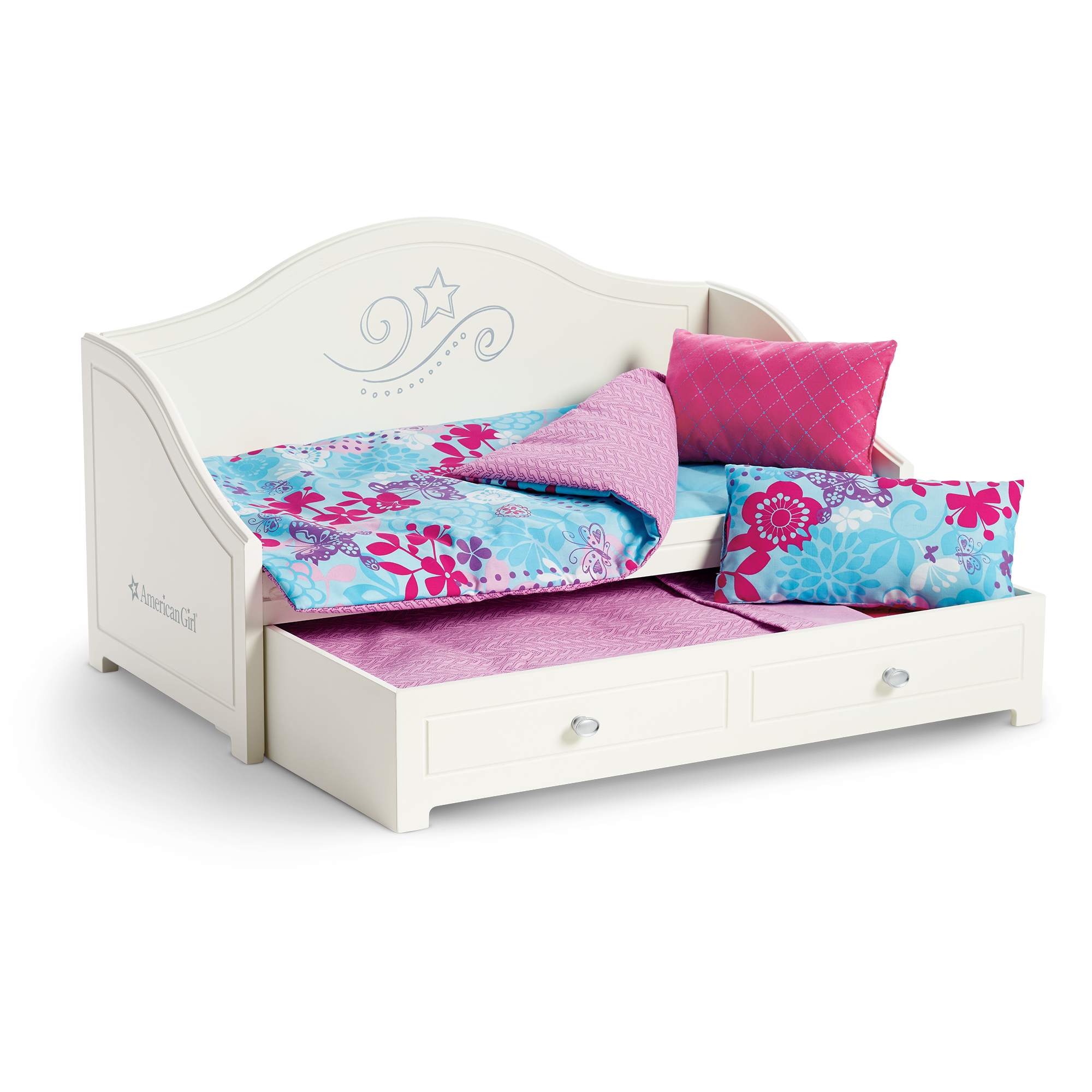 Trundle Bed and Bedding Set