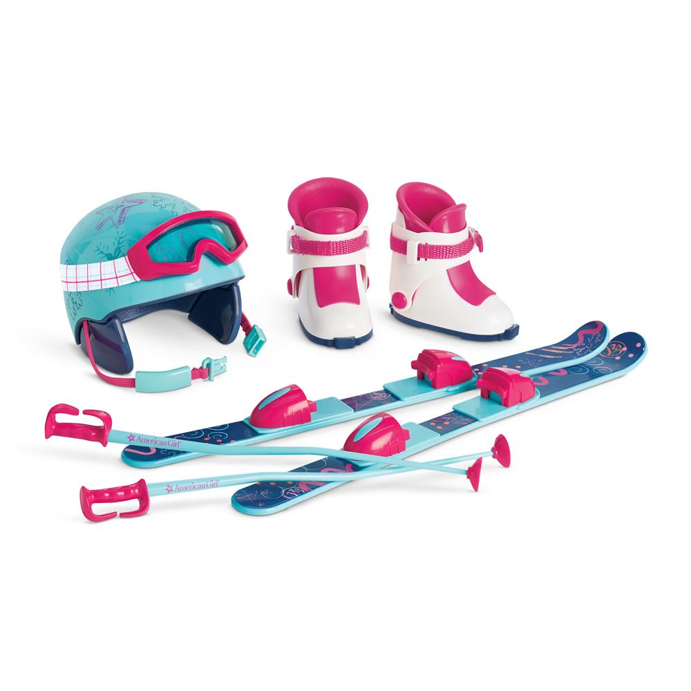 Skis and Helmet Set