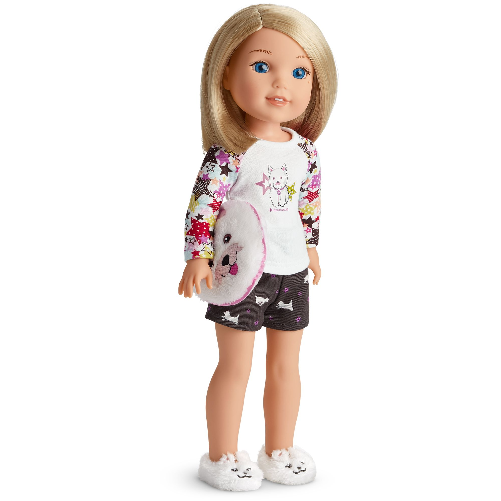 American Girl blue Slippers from Coconut Pajamas