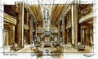 Hotel Cortez Lobby Sketch