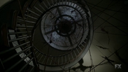 Roanoke house staircase with totems