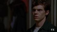 Evan Peters as Kit Walker on American Horror Story Asylum S02E01