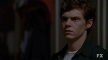 Evan Peters as Kit Walker on American Horror Story Asylum S02E01