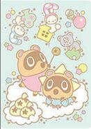Sello Tendo & Nendo y Little Twin Stars - Serie Animal Crossing X Sanrio