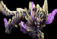 Armadura superpuesta que se obtiene con el amiibo del camarada Canyne - Monster Hunter Rise